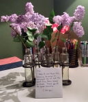 Lilacs and a note are an amazing way to start a day. ©2015 Peace Full Home